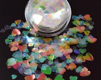 100g/93,33 Euro-bag glitter sparkling powder heart heart 3g Tinker sparkle White Iridescent new