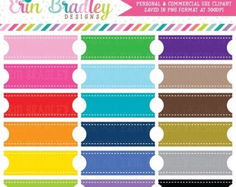 80% OFF SALE Ribbon Label Clipart Commercial Use Planner or Tag Graphics