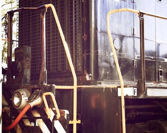 Train Decor, Railroad Art, Industrial Wall Decor, Steam Train Wall Decor