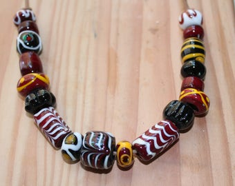 Viking glass beads necklace