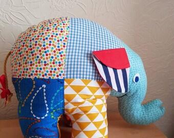 Patchwork Elephant Soft Toy