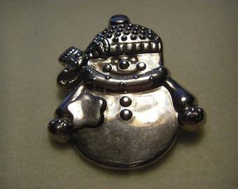 """Vintage large""""BEST"""" snowman S.P. pin or Pendant"""