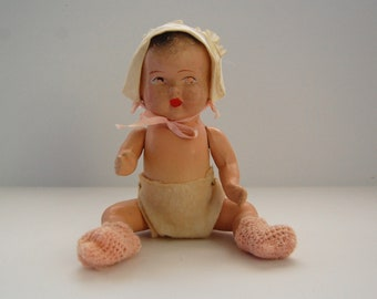 Vintage Composition Doll, Creepy Baby Doll