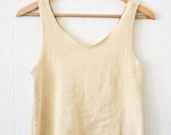 Nyphea Crop - Hemp - Organic Cotton - Herbal Dye -  Women's Top -  Natural Clothing -  Juniperous