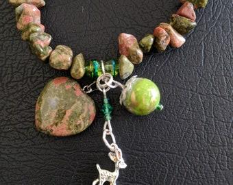 Deer charm bracelet