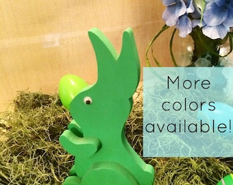Green Easter Bunny - Sitting Easter Bunny - Easter Bunny Decor - Easter Decoration - Easter Decor