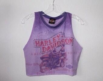 Rhinestone Harley Davidson pinup top
