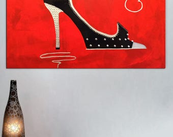 LOUBOUTIN Shoes,Shoe Art,Shoe Print,Shoe Paint,Shoe Painting,Shoe ArtworkShoe Accessories,Shoe Just Married,Shoe Decoration,Painting Shoes