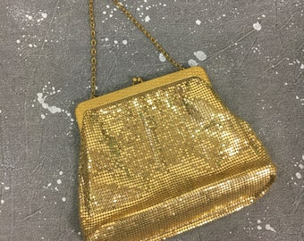 Glam Gold Mesh Purse Vintage Whiting & Davis 1950s