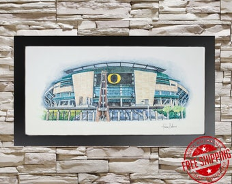 University of Oregon Ducks Print Portland Wall Art Decor