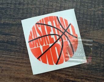 Basketball Mom Decal | Sports Mom | Basketball Decal | Basketball Mom Car Decal | Basketball Decal for Yeti