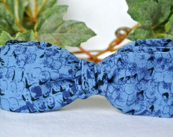 Bow Ties Men Blue , Speckled Tie , Pretied Clip-On Bowtie , Gift for Dad under 20 , Fathers Day