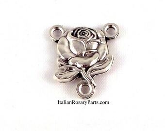 Vierge Marie Rose Centre de chapelet Médaille Miraculeuse | Rosaire italien parties
