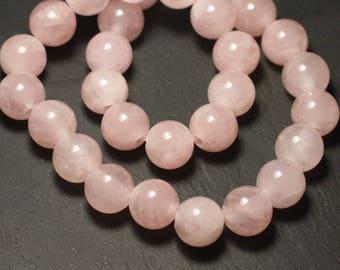 Stone - ball 14mm Rose Quartz bead 1pc - big hole 3mm - 8741140019508
