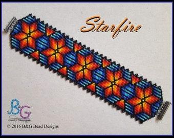 STARFIRE Peyote Cuff Bracelet Pattern
