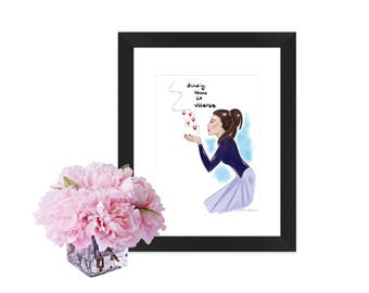 Print, card, kisses, heaven, lovedones, chic, wall art
