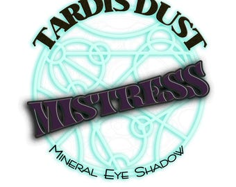 TARDIS DUST *Mistress* - Doctor Who Inspired Loose Mineral Eye Shadow - Missy Deep Smokey Plum