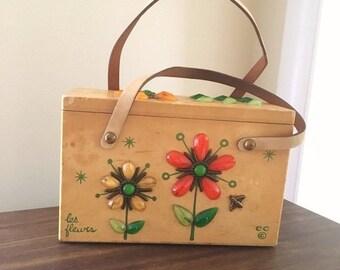 20% OFF - Enid Collins Les Fleurs Wooden Box Bag