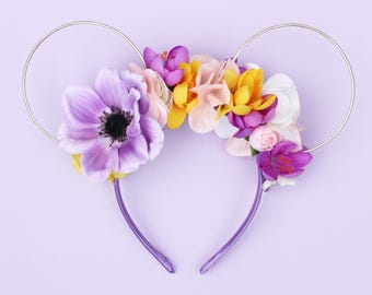 Punzie Floral Wire Mouse Ears