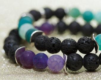Lava stone Bracelet | Diffuser Bracelet | Essential Oil Beads | Stretch Bracelet | Tassel Bracelet | Essential Oils Bracelet | Aromatherapy