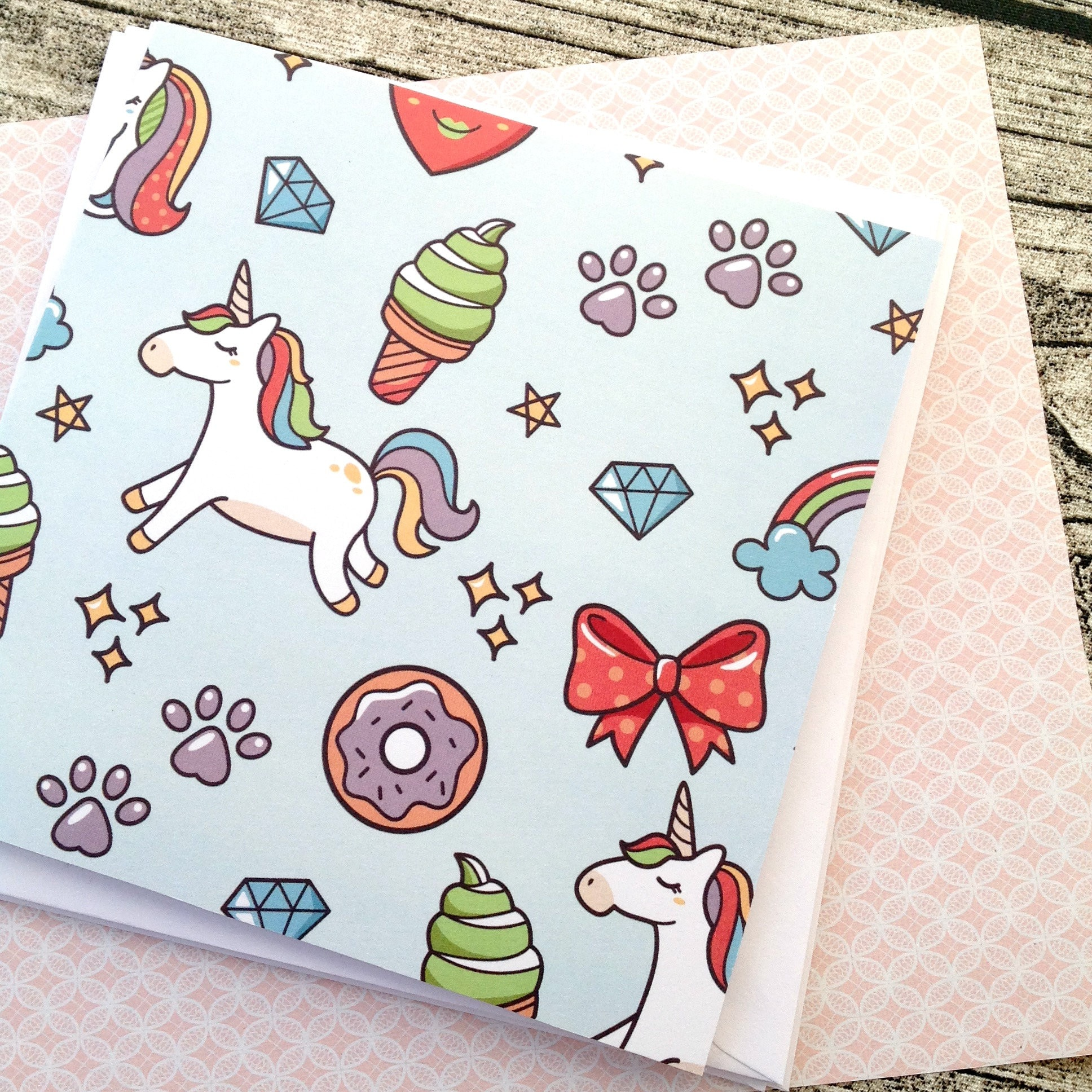 Kawaii greeting card birthday card kawaii stationery cute request a custom order and have something made just for you kristyandbryce Choice Image