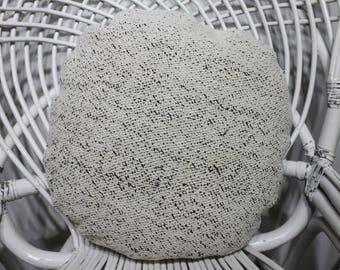 Circle Pillow 16x16  Round Pillow Kilim Pillow Overdyed Kilim Pillow Turkish Kilim Pillow Cover Boho Pillow Rare Brown Color Throw Pillow 17