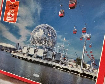 RARE Vancouver Expo 86 Vintage Jigsaw Puzzle