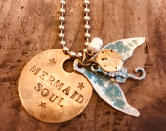 Mermaid Tail Charm Necklace