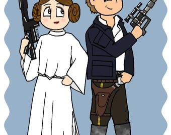 Hans Solo and Leia