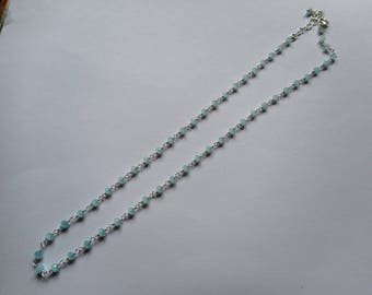 Aquamarine 925 sterling silver necklace