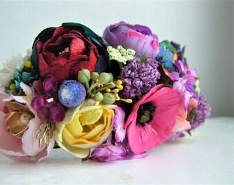 Flower garden delight - Headband - OOAK - Ready to ship xx