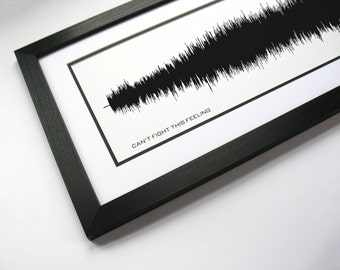Can't Fight This Feeling - Song Lyric Art Print, Music Poster, Sound Wave Design