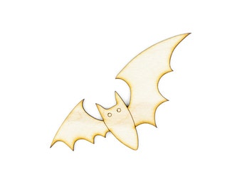 Bat - Angle Design - DIY Crafts,Halloween Decor, Laser Cut Craft Supply - 1qty - 4 x 4 Inch (10.16 x 10.16cm) Wood Blanks,Party Crafts,Decor