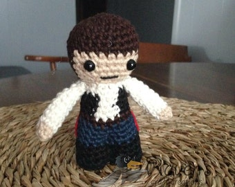 Han Solo Inspired Amigurumi doll- MADE to ORDER- Star Wars Inspired dolls