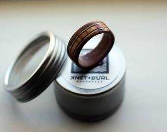 Wood Ring, Bentwood Ring, Wood Rings for Men, Mens Ring, Wedding Band, Wooden Ring, Mens Wood Wedding Band, Teak, Inlay Ring, Bentwood