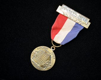 National Rifle Association Medal, NRA, Collectible, Building Fund Medal,  Red white blue #242