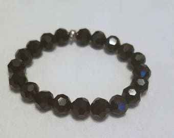 Black stretch cord bracelet