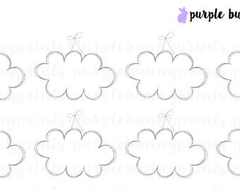 Hanging Cloud Labels // Planner Stickers!