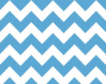 Medium Blue Chevron by Riley Blake - 1 yard