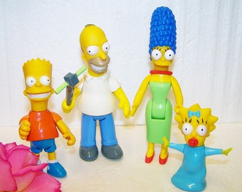 Vintage Simpsons Figures - Homer, Marge, Bart and Baby Maggie - Vintage  Collectibles