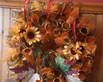 Fall wreath, handmade.