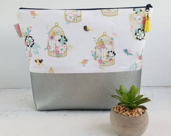 Travel Toiletry Bag Women Large | Cosmetic Bag Leather | Cosmetic Pouch Handmade | Diaper Pouch | Large Makeup Bag | Zipper Pouch Leather