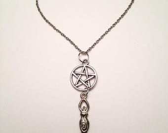 Pentacle with Goddess