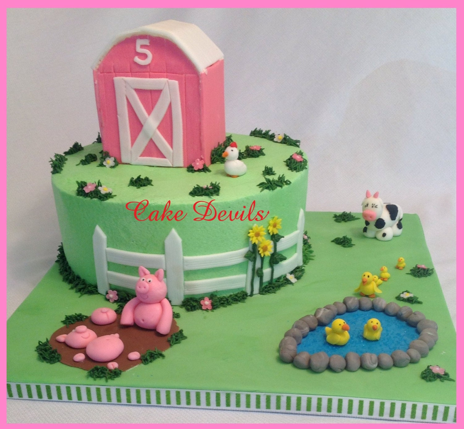 Barn Animal Fondant Cake Topper Kit Farm Animal Cake