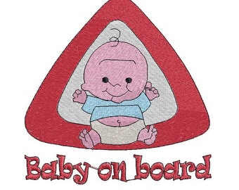 Embroidery-Embroidery Baby on board