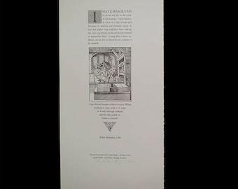I Have Resolved by Aldus Manutius Letterpress Broadside