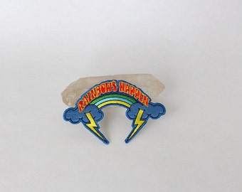 Rainbow with Lightning Bolts Patch | Rainbows Happin