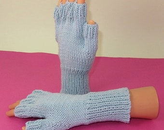 HALF PRICE SALE Digital pdf file knitting pattern- Simple Short Finger Gloves pdf download knitting pattern
