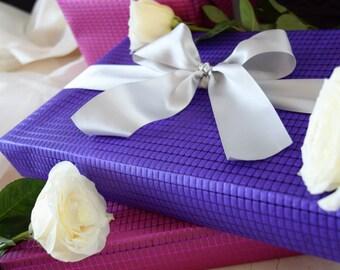 Luxury Purple Violet Embossed Gift Wrap Rolls (Set of 2 Rolls)