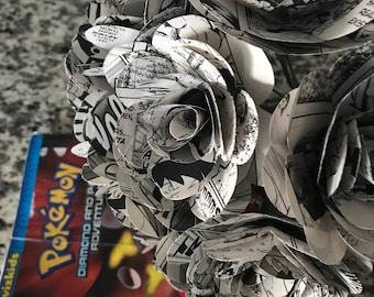 """Pokémon Comic Book Roses, Dozen, Paper Flowers, 3"""""""